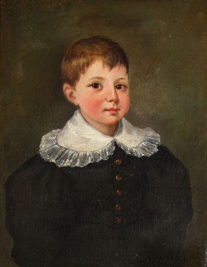 *Ecole française du XIXème s.  Portrait d'un...