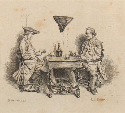 *Ernest MEISSONIER (1815-1891)  La partie...