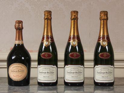 *Laurent PERRIER  Trois bouteilles de Champagne...