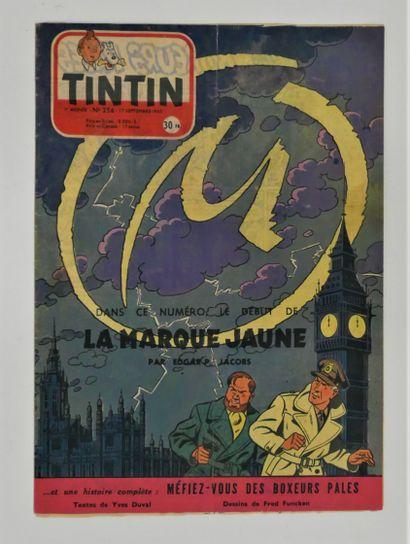 JACOBS  Périodique - Tintin n°256 du 17 sept....