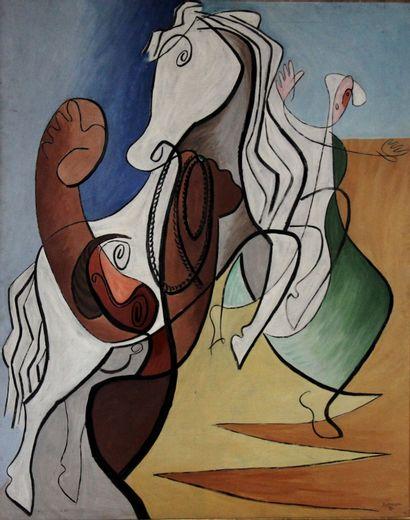 Léopold SURVAGE (1879-1968)  Le Cheval,...