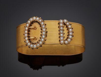 *Bracelet ceinture en or jaune 750 millièmes...