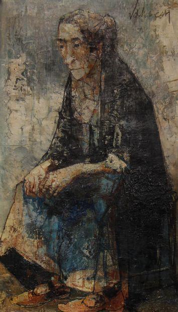Jean JANSEM (1920-2013)  Femme assise  Huile...