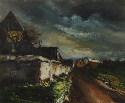 Maurice DE VLAMINCK (1876-1958)  Le village,...