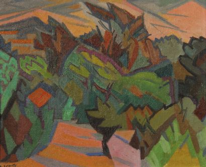 André LHOTE (1885-1962)  La Cadière, chemin...