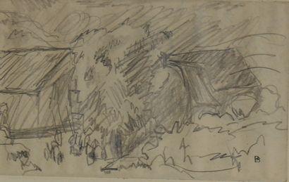 Pierre BONNARD (1867-1947)  Les chaumières...