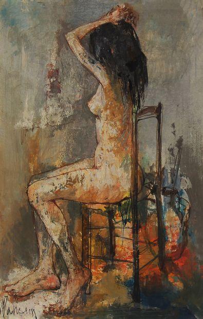 Jean JANSEM (1920-2013)  Jeune fille nue...