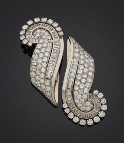 *RENE BOIVIN (Signé)  Bracelet rigide et...