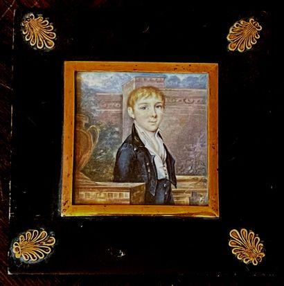 *Ecole du XIXèmes.  Portrait d'un jeune garçon...