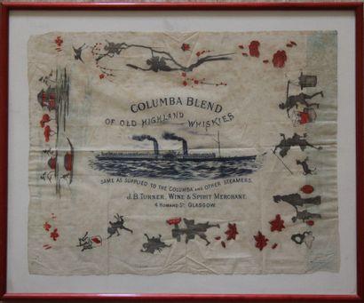 Publicité pour le whisky St Columba Blend...