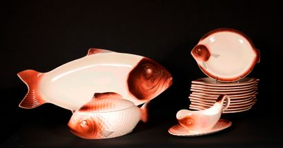 LONGWY  Partie de service à poisson modèle...
