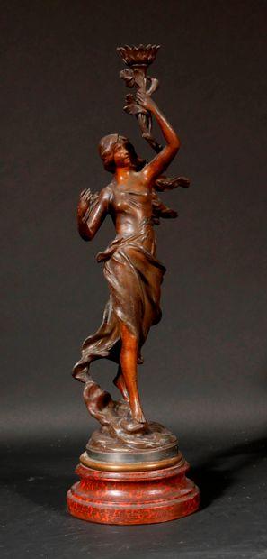 *Charles PERRON d'après  La brise  Sculpture...