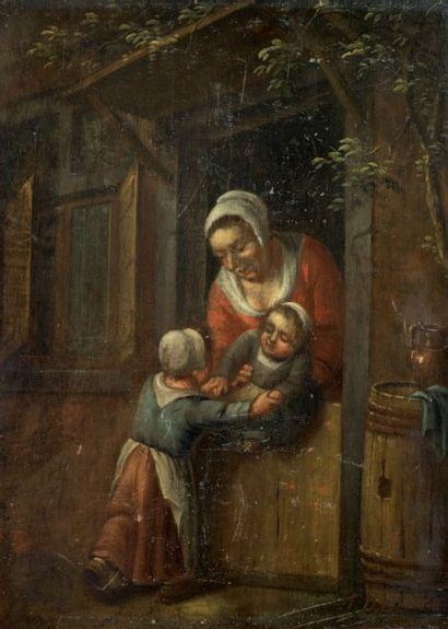 École HOLLANDAISE (Genre du XVIIe siècle)