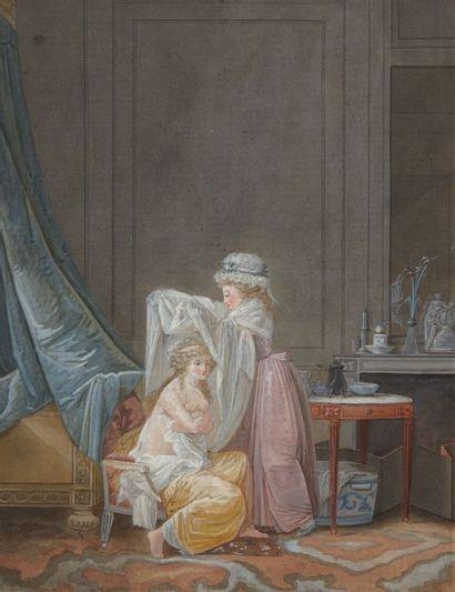 MALLET Jean-Baptiste (attribué à) Grasse 175-Paris 1835
