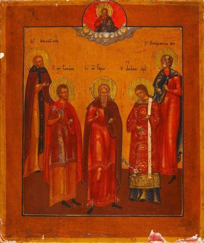 St Samon, St Goury et St Aviv  Icône d'origine...