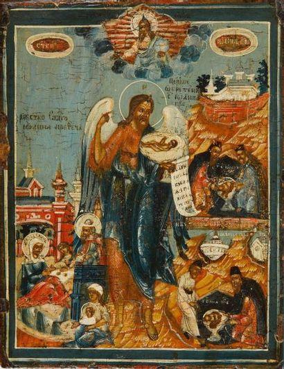 Saint Jean Baptiste  Icône d'origine russe,...