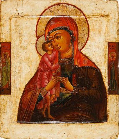 La Vierge Borskaïa  Icône d'origine russe,...