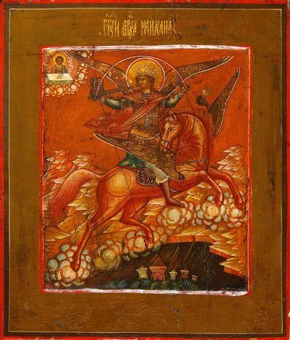 L'Archange Michel  Icône d'origine russe,...