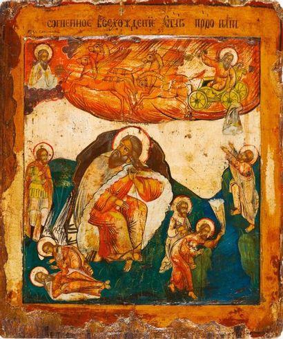 Le Cycle de St Elie  Icône d'origine russe,...
