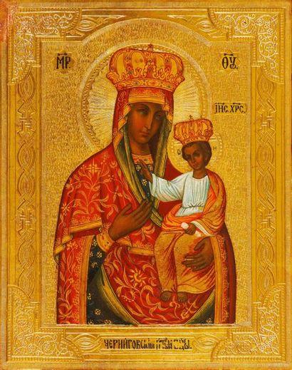 La Vierge de Tchernigov-Getsimane  Icône...