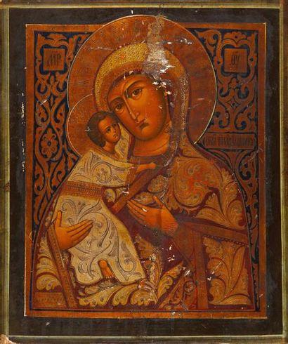 La Vierge de Vladimir  Icône d'origine russe,...