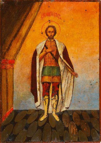 St Alexandre Nevski  Icône d'origine russe,...