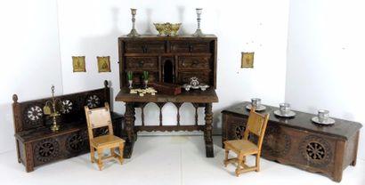 Cabinet breton avec coffret – banc – barguenio...