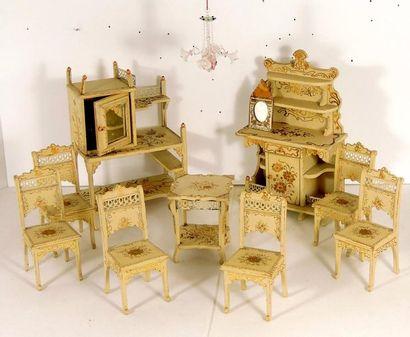 Ensemble de mobilier de salon Art Nouveau,...