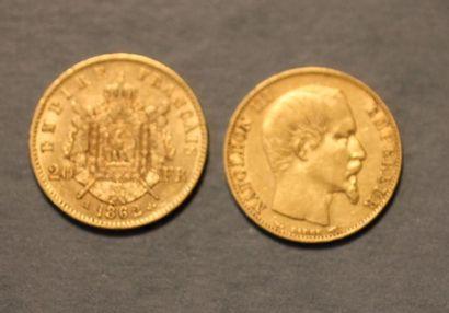 Un souverain et une pièce de vingt francs...