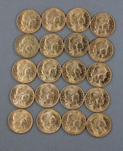 20 pièces de 20 FF en or