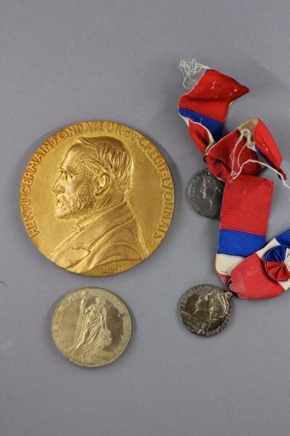 Médailles : Crédit Lyonnais, Mérite, Ministère...