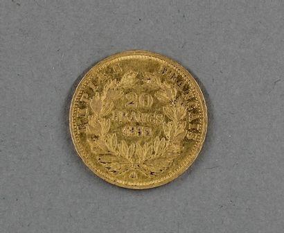 Une pièce de 20 FF en or