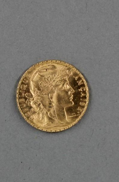 1 pièce de 20 FF en or jaune