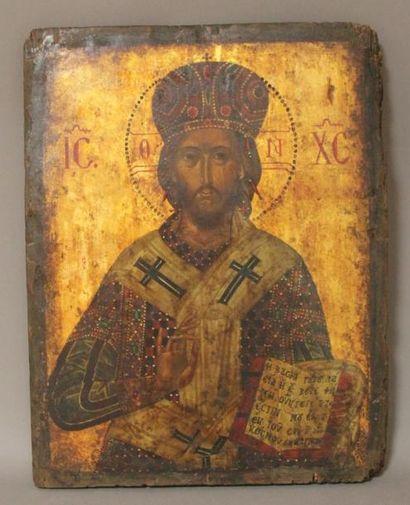 Icône réprésentant le Christ Pantocrator...