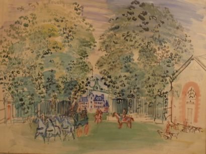Raoul DUFY (1877-1953) Attelage quittant...