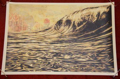 Shepard FAIREY (1970-)  The Wave, 2017  Sérigraphie...