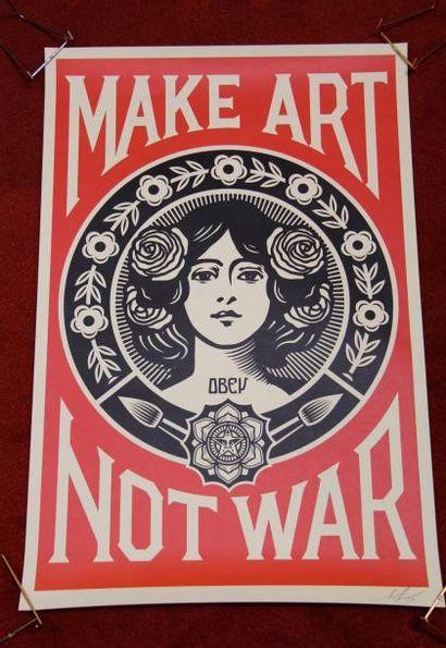 Shepard FAIREY (1970-)  Make art not war,...