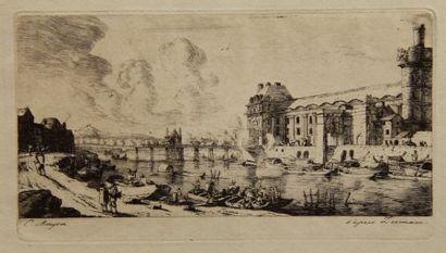 Charles MERYON (1821-1868)  Le pavillon Mademoiselle...
