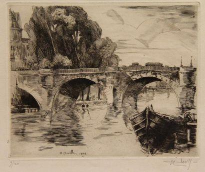 Henry Wilfrid DEVILLE (1871-1932)  - Le Pont...