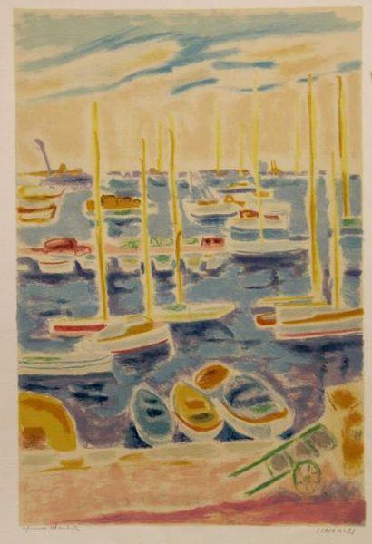 Jules CAVAILLES (1901-1977)  Le pont à la...