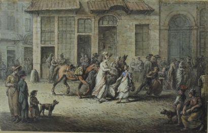 Ecole française du XVIIIème s.  Scène de...