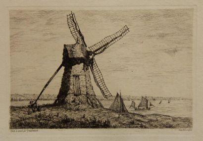 Paul Désiré TROUILLEBERT (1829-1900)  Moulin...