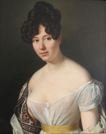Joseph Jean VAUDECHAMPS (1790-1866)  Portrait...