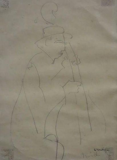 Georges VALMIER (1885-1937)  Viloncelliste...