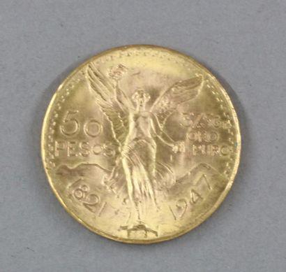 *Une pièce de 50 pesos en or 1947