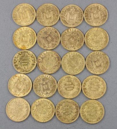 *Vingt pièces du 20 FF en or