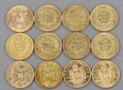 *Douze pièces de 20 FF en or