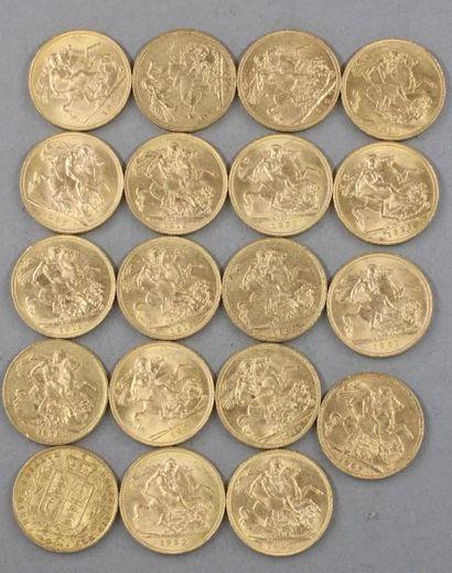 *Dix neuf Souverains en or