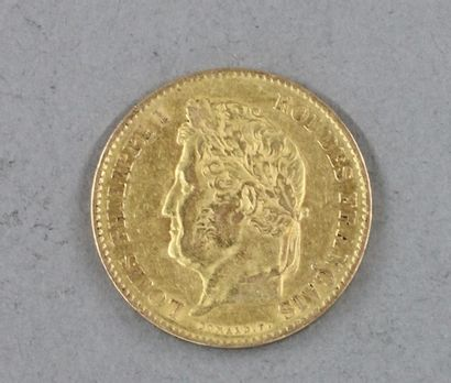 *Une pièce de 40 FF 1833 en or