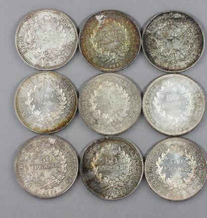 Lot de pièces en argent :  - 1 thaler Marie...